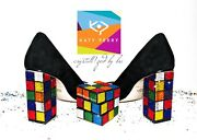 Bling Katy Perry Caitlin Rubik's Cube Heels With Crystals Crystallized