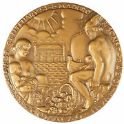 Nudes West Indies Caribbean Curacao 125th Anniv Of Maduro And Sons Inc Bronze 76mm