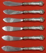 Imperial Queen By Whiting Sterling Silver Trout Knife Set Hhws 6-piece