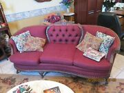 Antique Victorian Furniture Set Sofa And Wing Chairs