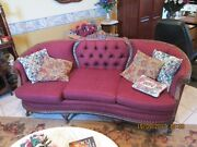 Antique Victorian Furniture Set, Sofa And Wing Chairs