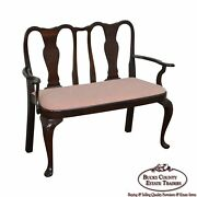 Custom Solid Mahogany Queen Anne Childs Settee