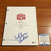 Sarah Silverman Signed Wreck It Ralph Movie Script W/ Character Name Beckett Coa
