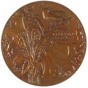 France La Fontaineand039s Fables The Oaktree And The Reed Bronze 59mm By Vernon