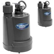 Superior Pump Thermoplastic Submersible Utility Water Sump Pump 91250 Black