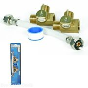 Rv Permanent By-pass Kit 6 Gal Tank 8 Inch Winterizing Water Valves Trailer Camp