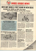 1955 Paper Ad 4 Pg Amf Pedal Car Super Sport Farm Tractor Luxury Liner Bicycle