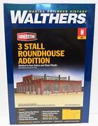 N Scale Walthers Cornerstone 933-3261 Modern Roundhouse 3 Add-on Stalls Kit