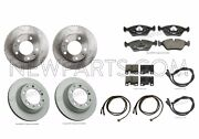 For Porsche 928 Front And Rear Zimmermann Brake Rotors Oem Pads And Sensors Kit