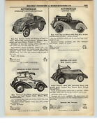 1937 Paper Ad Gendron G-man Cruiser Pedal Car Ford Steelcraft Buick Chevrolet