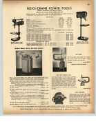 1942 Paper Ad Boice Crane Power Tools Bench Press Jig Scroll Saw Jointer Lathe