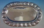 Aztec Rose By Sanborns Mexican Sterling Silver Bread Tray Oval 12 1772