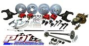 Pol 63-64 Chevy C10 5-lug Front And Rear Power Disc Brake Conversion W/ Rear Axles