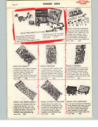 1957 Paper Ad Bags Of Toy Vinyl Rubber Soldiers Fireman Fire Fighters Cowboys ++