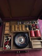 Vintage Abercrombie And Fitch Roulette Chess Bakelite Dominoes And Cribbage.