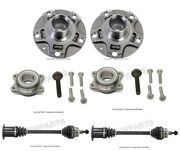 For Audi A4 Set Of 2 Front Auto Trans. Axle Shaft And Wheel Hubs W/ Bearings