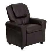 Recliners For Kids With Cup Holder Reading Chair For Bedroom Gaming Tv Brown