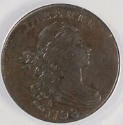 1798 1c Style 2 Hair Draped Bust Large Cent S-175 Anacs Ef 40 Details