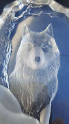Mats Jonasson Crystal Wolf Signed Limited Edition 1981 W/cert Of Auth And Box