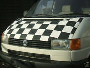 Cmc-vw T4 Caravelletransportercamper Chequered Bra In Black And White