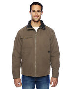 Dri Duck Menand039s Long Sleeve Chest Patch Pocket Basic Jacket Dd5037 New S-4xl