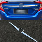 Fit For Honda Civic 10th 2016 2017 2018 Chrome Rear Trunk Ld Molding Cover Trim
