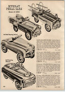 1956 Paper Ad Murray Pedal Car Pace Setter Staton Wagon Century Champion Fire