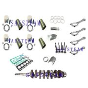 V2203e Idi Engine Rebuild Kit Con-rod Crankshaft Fit Kubotabobcat Loader Tractor