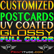 Personalized 20000 Flyer Eddm 8.5 X 11 Full Color 2 Sided 14pt Gloss Postcards
