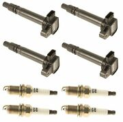 For Toyota Tacoma 2.4 2.7 Set Of 4 Direct Ignition Coils W/ Spark Plugs