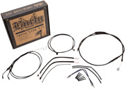 Burly Cable And Brake Line Kits Black 14in. Ape Hangers Xl 14-21 Single Disk