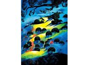 Eyvind Earleand039s Ltd Edition S/n Serigraph And039fading Sunset Flameand039 From 1995