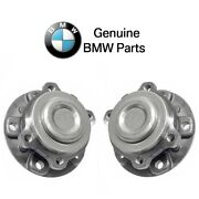 For Bmw F10 F12 Pair Set Of Front Left And Right Wheel Hub With Bearings Genuine