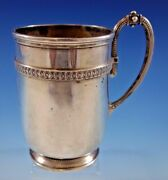 Whiting Sterling Silver Baby Child's Cup Mug Gadroon Border Beaded Gw 58