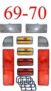 69 70 Chevy 10pc Tail Light Deluxe Side And Clear Parking Light Kit C/k Truck
