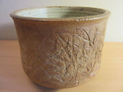 Signed Thomas W. Fetter studio stoneware pottery planter pot vase