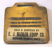 Trojan Division Yale And Towne Wheel Loader Pocket Watch Fob Bleiler Equipment Co