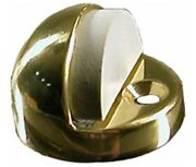 Lot Of 4 Hager Dome Door Stop Bumper Hardware High Profile Brass Finish
