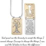 Sterling Silver Serenity Prayer Necklace | Tree Of Serenity | Made In The Usa