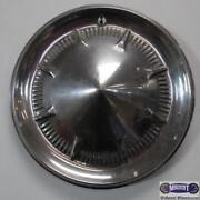 '60, Ford, Passenger, Used Metal Hubcap, 8 Raised Spokes, Cone Type,  O-2