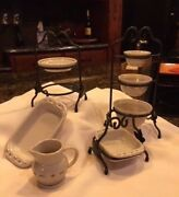 Longaberger Collectors Club Miniature Pottery And Wrought Iron