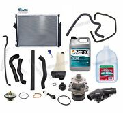 For Bmw E36 Radiator Coolant Hoses Thermostat Tank Water Pump Antifreeze Kit