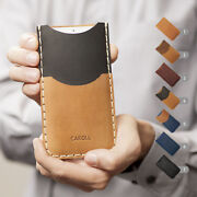 Personalized Nokia Leather Cover Engraved Sleeve Credit Card Pocket