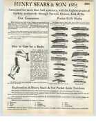 1935 Paper Ad 14 Pg Henry Sears And Son 1865 Pocket Knife Knives Store Display