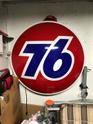 76 Collectible Sign Red White And Blue