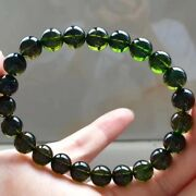 Aaaaa 8mm Natural Colorful Tourmaline Crystal Round Clear Beads Bracelet