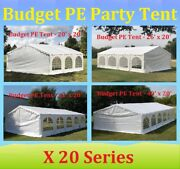 20'x20', 26'x20', 32'x20', 40'x20' Budget Pe Party Wedding Tent Shelter Canopy