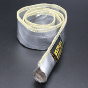 Metallic Heat Shield Sleeve Insulated Wire Hose Cover Wrap Loom Tube 2 10 Ft