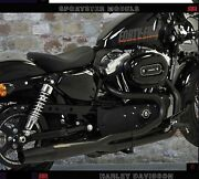 Exhaust Mufflers Red Thunder Black Approved 2in1 H-d Sportster Iron Nightster