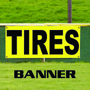 Quality New And Used Tires Advertising Banner Sign Car Truck Suv Van Discount